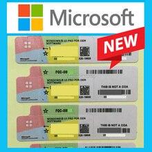 Microsoft windows 10 プロキーoem coaステッカーラベル勝利 10 プロの作業ライフタイムライセンスオンライン活性化ソフトウェアキーボードカバー