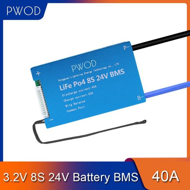 3.2V Smart LiFePo4 8S BMS 24V Battery Management System Protection PCB Board for E scooter E bike not for 3.7V Li ion Battery