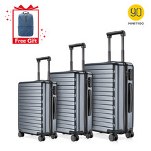 Ninetygo 90FUN 20 24 28 Inch Set Titanium Grey Koffer Carry Op Spinner Wielen Rolling Bagage Tsa Lock Business Travel(China)