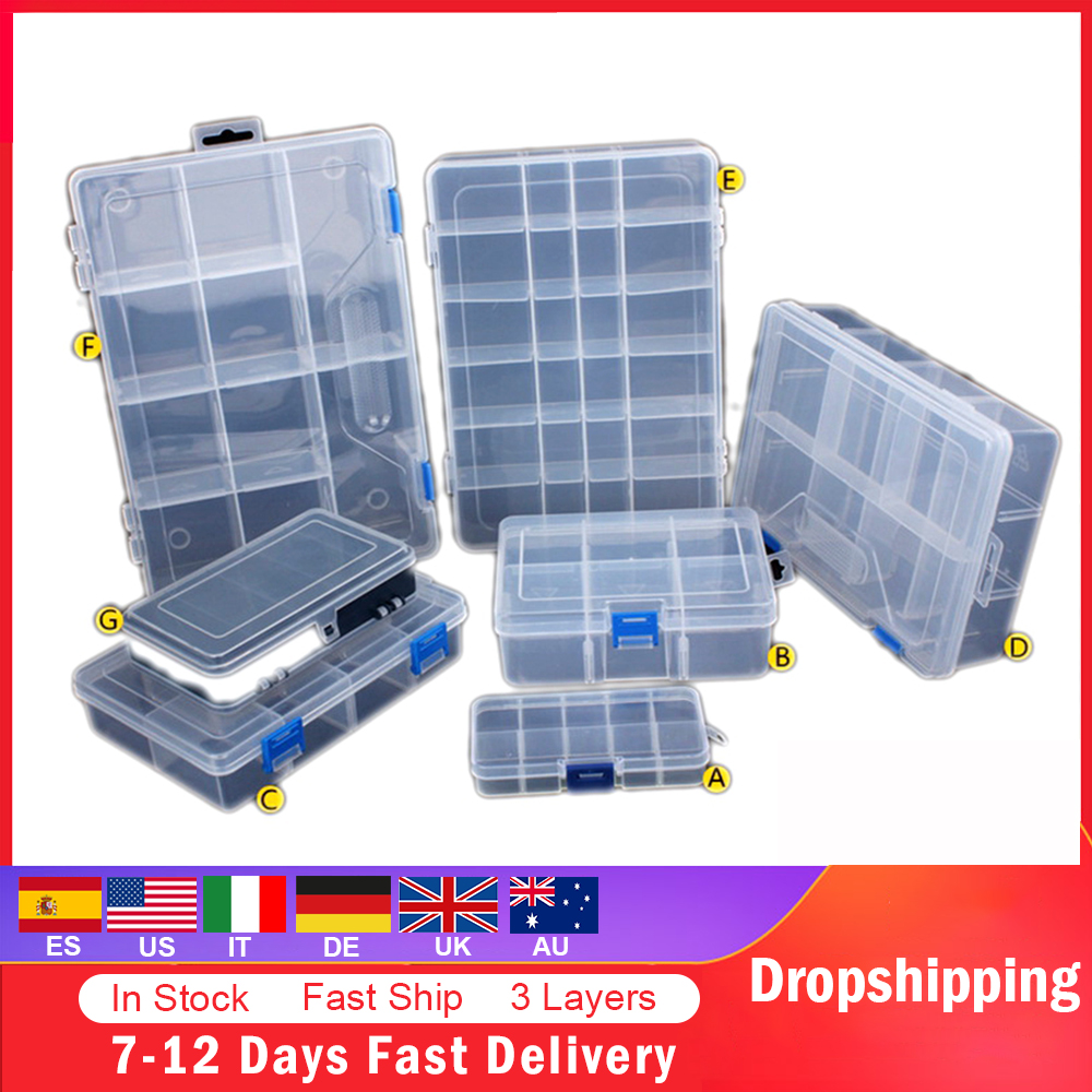 Adjustable Components Compartment Storage Organizer Detachable Portable Tools Box Electronic Drill Screw Beads Storage Toolkit