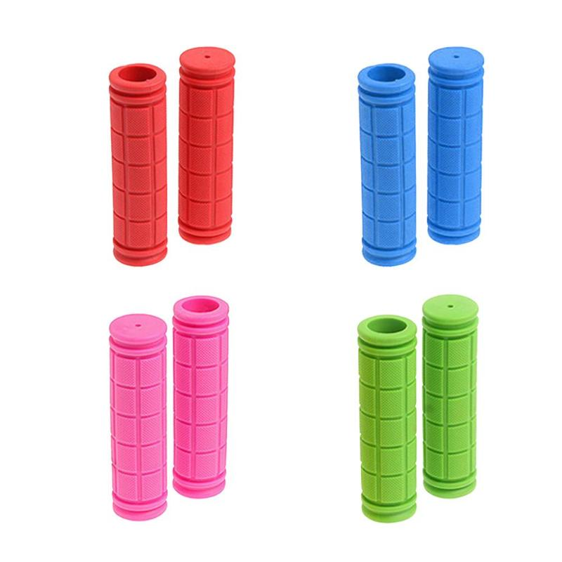 1 Pair 13cm Color Rubber Bicycle Grips Handlebar Set Mountain Bike Handle Non-Slip Bicycle Handle Parts Equipment