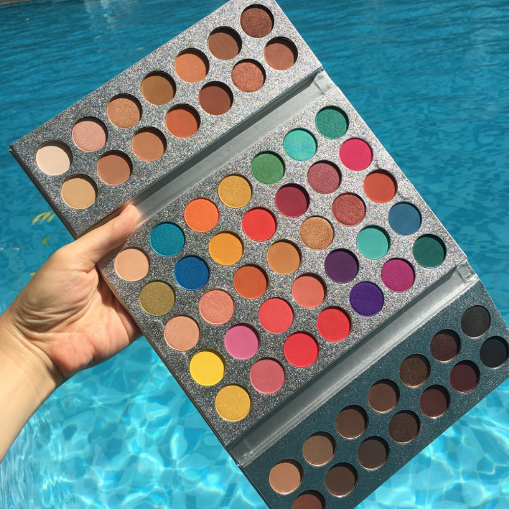 Beauty Glazed Makeup Eyeshadow Pallete Gorgeous Me 63 Colors Pressed Glitter Eye Shadow Palette Pigmented Palette Brushes Set