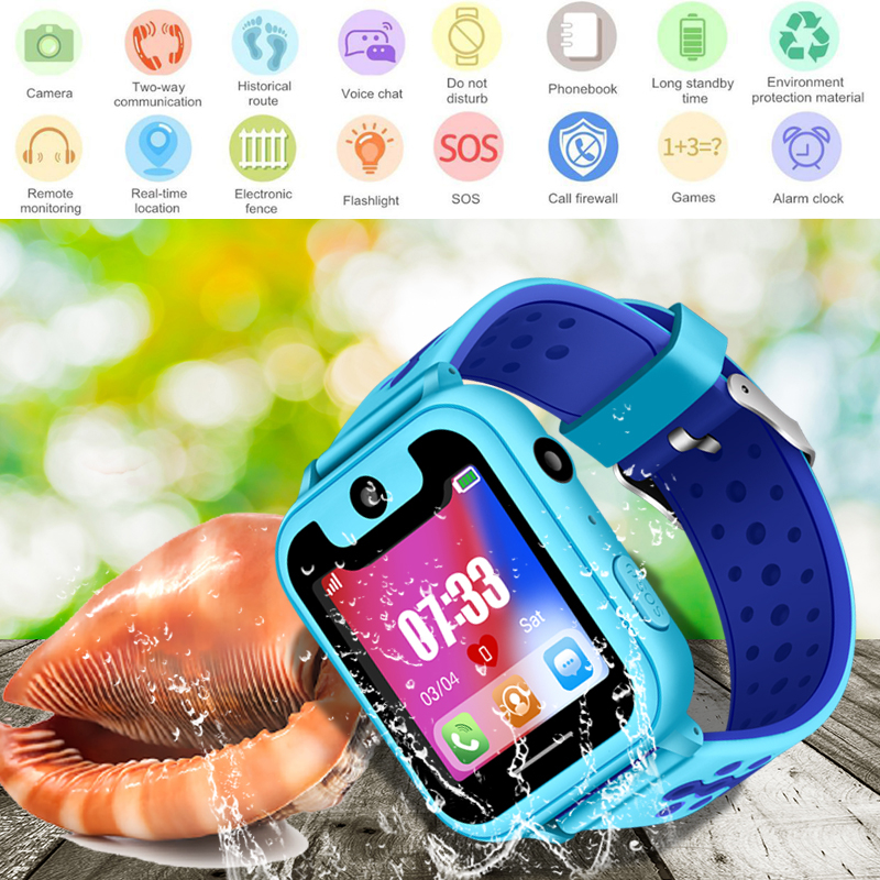 Children's Smart Waterproof Watch Anti-lost Kid Wristwatch With LBS Positioning SOS Tracker wristban