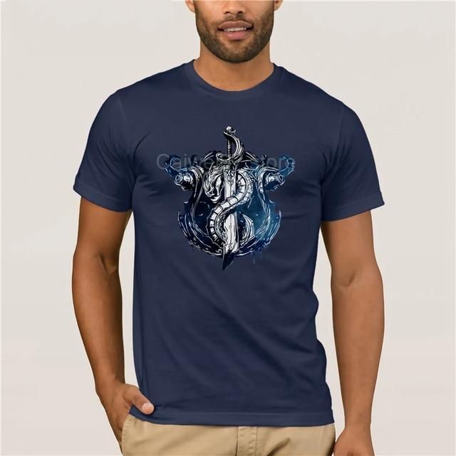 Fashion T Shirt 100% Cotton League of Legends BILGEWATER CREST T-Shirt quality fashion short sleeve men tshirt 6