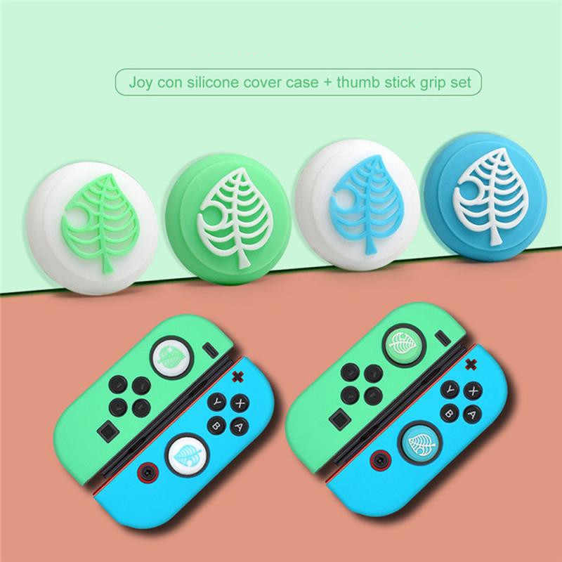 Untuk Animal Crossing Silicone Cover Grip Cap Thumb Stick Cover untuk Nintend Switch Lite Joy-Con Controller Gamepad Thumbstick kasus