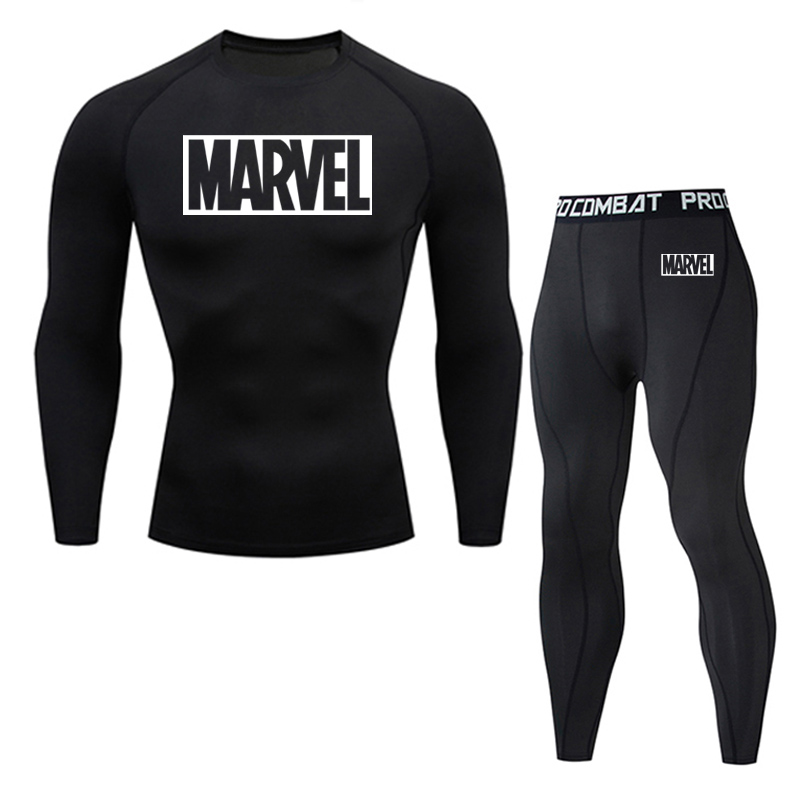 New Thermal Underwear Set Men's Clothing Brand Compression Sports Underwear Quick-drying Jogging Suit Winter Warm MMA Underwear