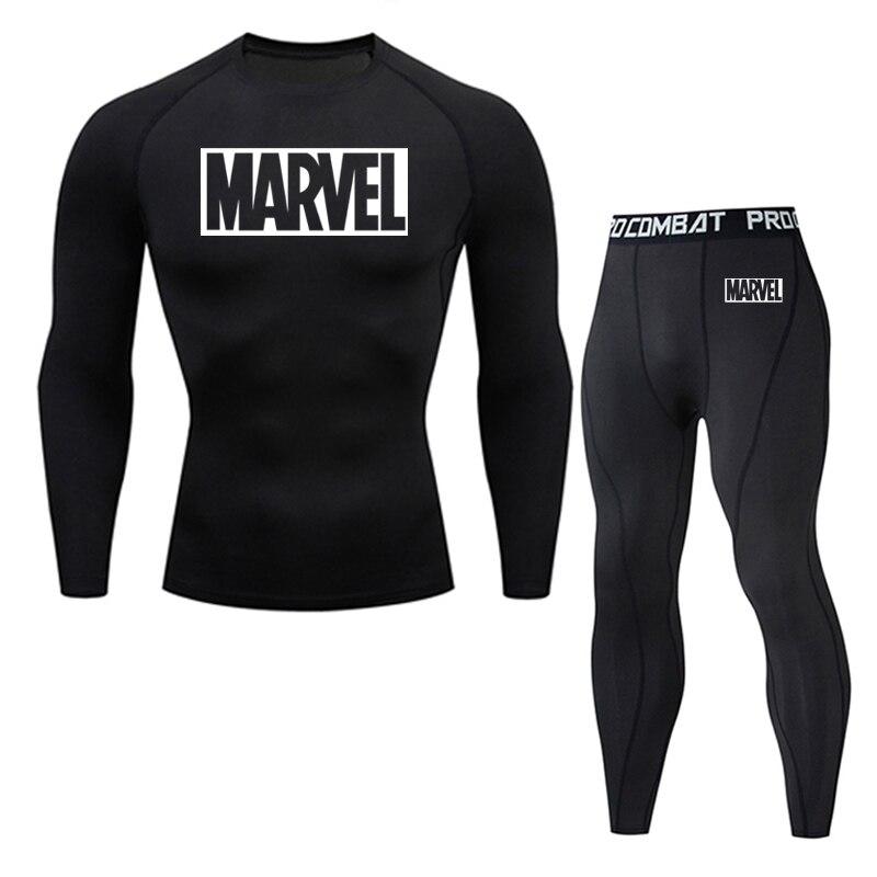 New Thermal Underwear Set Men's Clothing Brand Compression Sports Underwear Quick-drying Jogging Suit Winter Warm MMA Underwear