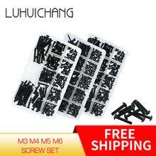 Luhuichang Juego de surtido de tornillos hexagonales de Tornillos De Cabeza Hueca, M3, M4, M5, M6