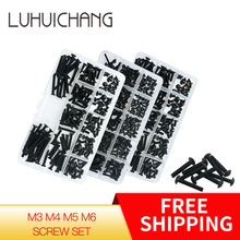 Luhuichang M3 M4 M5 M6 Hexagon Inbusbouten Fiets Hex Bouten Moer Schroef Set Assortiment Kit