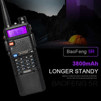 baofeng 5r walkie talkie 5w two way radio cb radio VHF UHF baofeng walkie talkie ham radio Dual Band FM Transceiver Amateur
