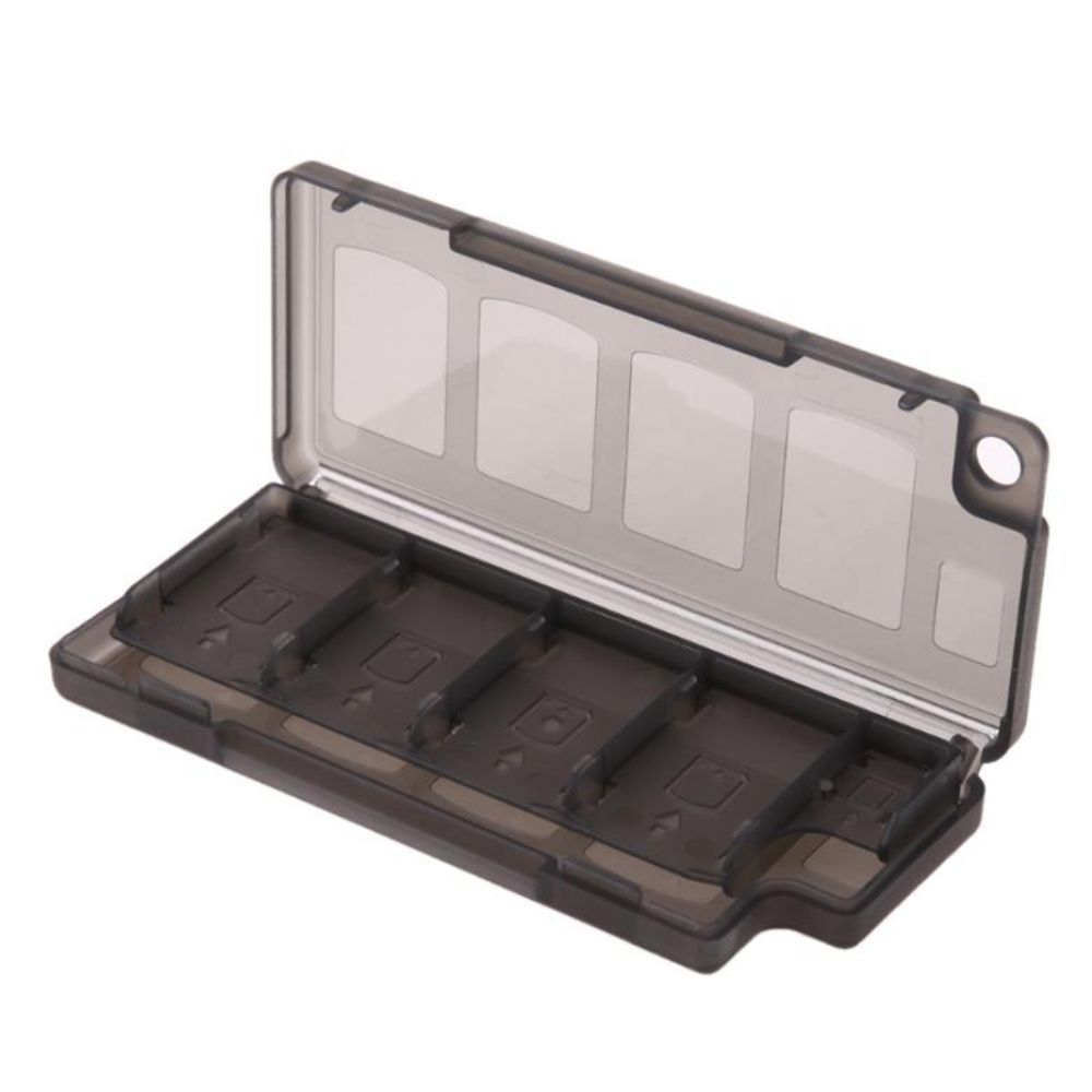 8 In 1 Memory Card Holder Game Card Case Box Cartridge Anti Dust Storage Box Protector Case Waterproof Anti-shock Gray Color
