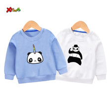 цена на cool kids sweatshirts boys Panda unicorn Casual Outwear Cartoon Toddler Baby Clothing Girls Sweatshirts Children 2019 Autumn top