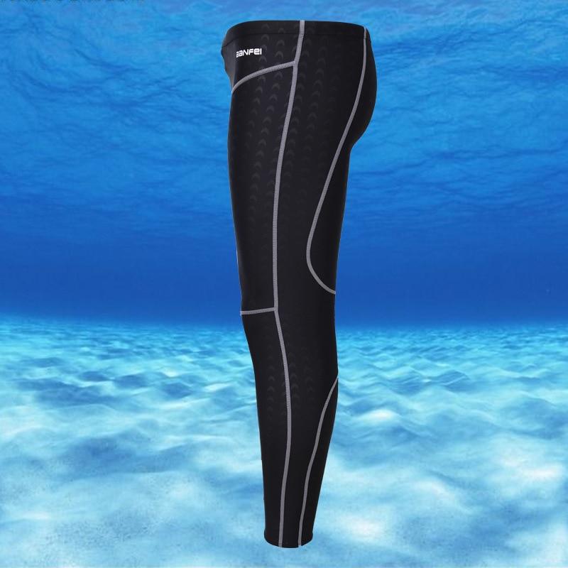 New Style Long Swimming Trunks Men Capri Long Swimming Trunks Waterproof Shark Skin Quick-Dry Sun-resistant Warm Fashion Bathing