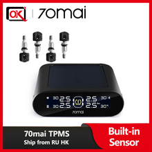 Internal-Sensor Pressure-Sensors-System Car-Tire 70mai Alarm Solar-Power USB English-App