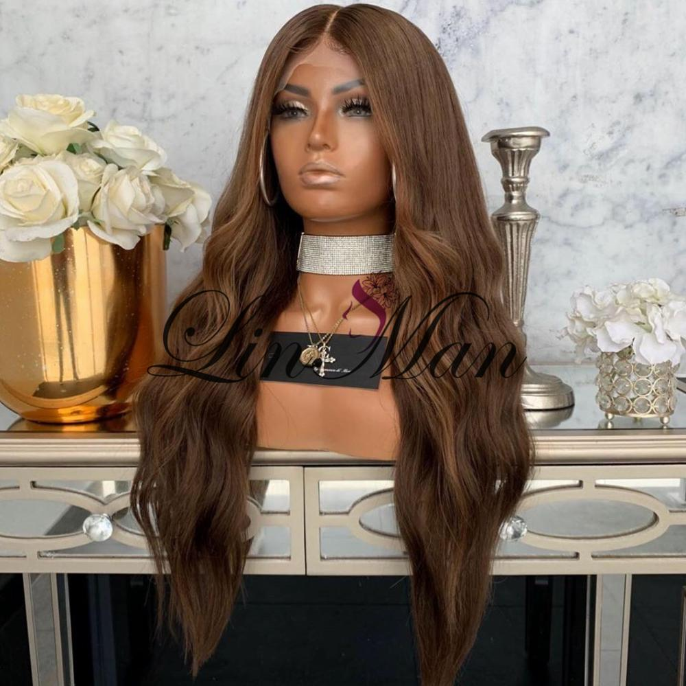 Front Lace WIg Loose WaveHuman Hair Lace Wig Pre Plucked Hairline LINMAN