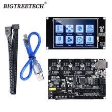 BIQU หน้าจอ: BIGTREETECH SKR MINI E3 32 บิตควบคุมแบบบูรณาการ TMC2209 UART RGB Marlin พร้อม TFT35 สำหรับ Ender 3/ 5 3D ชิ้นส่วนเครื่องพิมพ์