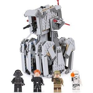 Image 1 - 05126 primer orden Heavy Scout Walker Star Wars en miniatura Kit de bloques de construcción ladrillos compatibles legoed 75177 regalos de navidad DIY