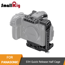 SmallRig S1H Quick Release Half Cage for Panasonic S1H Camera Cage With Manfrotto 501 Type Plate/NATO Rail/ Cold Shoe Mount-2513