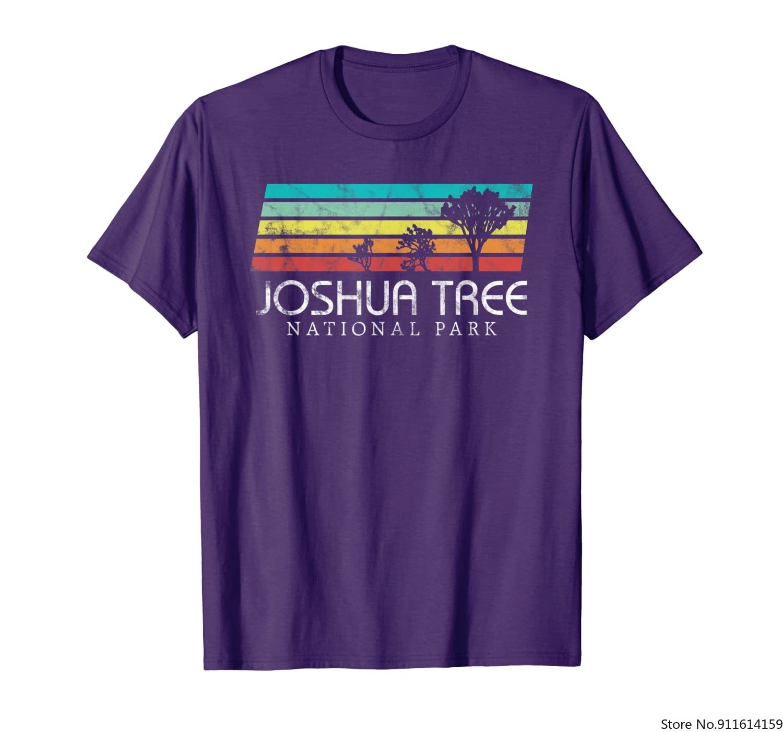 Винтажная ретро-футболка для кемпинга с изображением дерева Джошуа пустыни