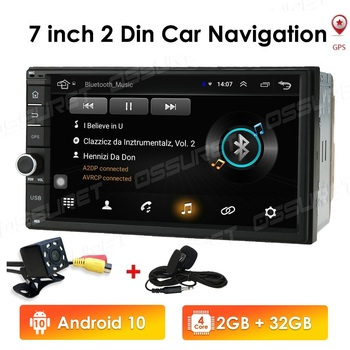 Android 10 2 Din Car radio Multimedia GPS Player 2DIN 2.5D Universal For Volkswagen Nissan Hyundai Kia toyota Navigation Stereo image