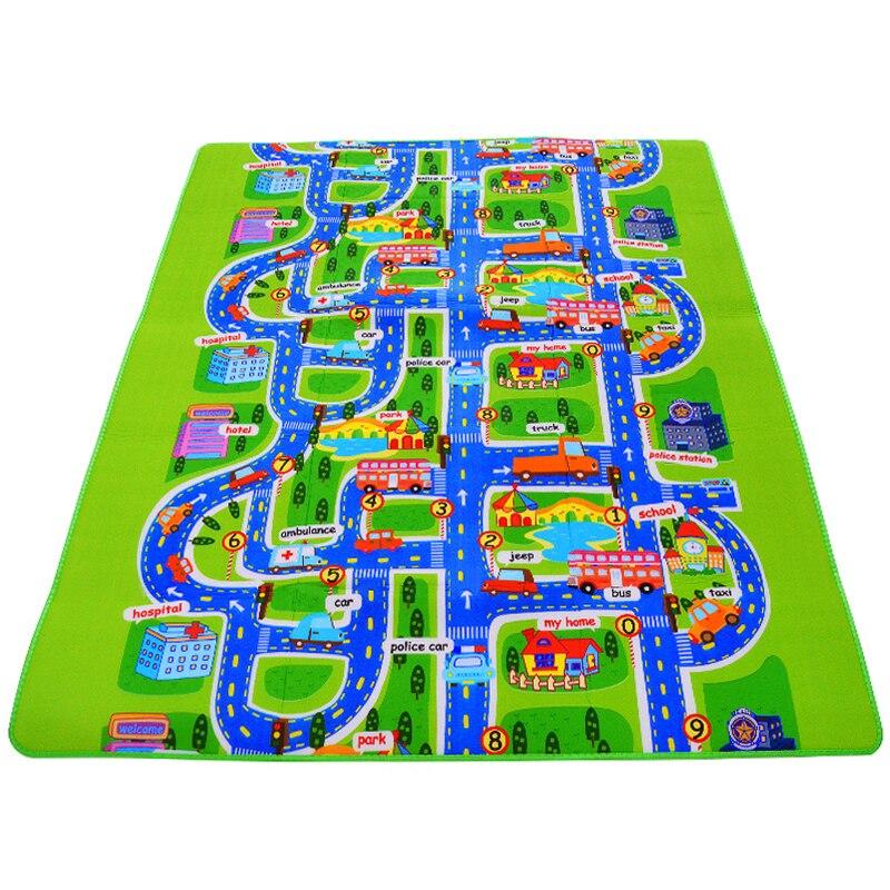 0.5 Cm Thick Town City Traffic Baby Crawling Mat EVA Foam Climbing Pad  Green Road Children's Play Mat Carpet For Baby Kids #S