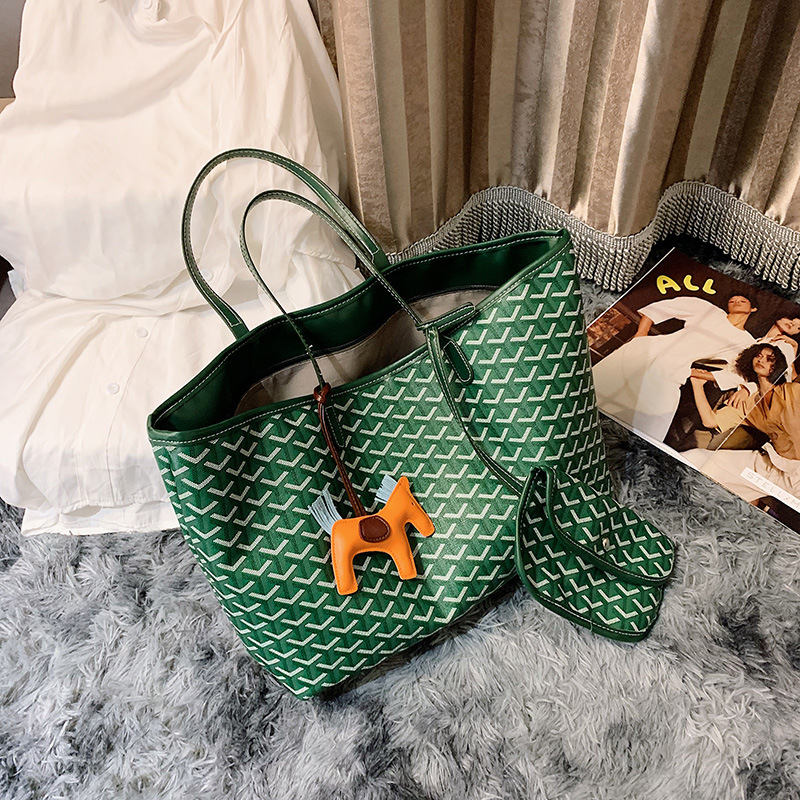 South Korea Dongdaemun Dog Bag Emo Mini Shopping Bag Pu Hand Different Size Bags Casual Fashion Handbag
