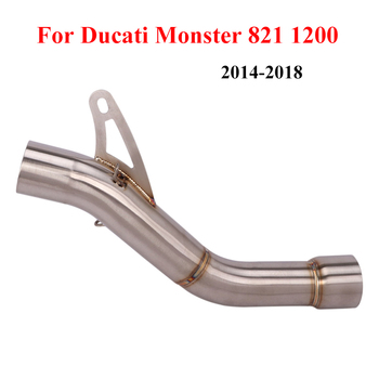 Slip On For 2014-2018 Ducati Monster 821 1200 Motorcycle Middle Connect Link Tube Stainless Steel Mid Section Pipe Exahsut Refit