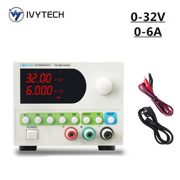 IVYTECH 5 Modes Presets Power Feeding Adjustable DC Lab Bench Power Supply 30V 5A 6A 10A 60V 5AMini Switching Voltage Regulator image