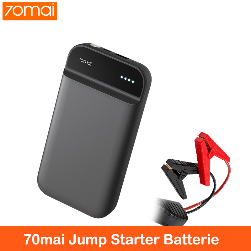 Xiaomi 70mai Jump Starter Auto Accessorie Booster Batterie Voiture 70 Mai 12v 11100mah Power Bank Starting Booster For Car