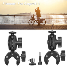 360 Rotation Non Slip Clip Support Action Camera Mount Bracket For Gopro 9 8 Tripod Adapter Mount for Gopro Hero 9 8 Accessory