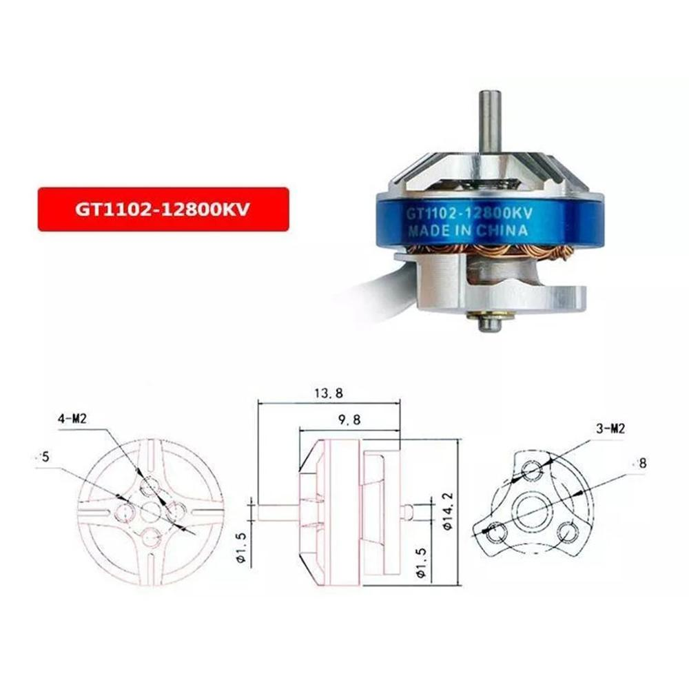 LDARC GT1102 1102 12800KV бесщеточный двигатель для крошечных GT7 2019 V2 FPV гоночный Дрон 3,1g части самолета Дрон аксессуары
