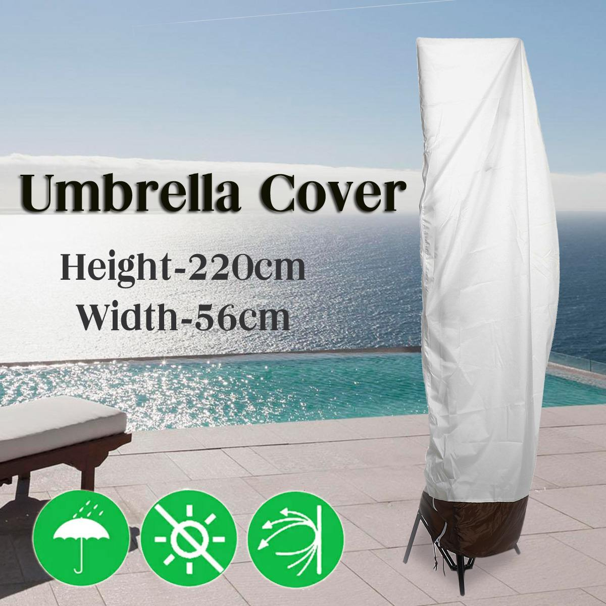 Garden Parasol Cantilever Umbrella Covers Patio Waterproof Outdoor Shield Cover