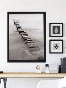 Picture-Frame Wall-Poster Coffee Wooden Nature White Black A3 A4 Solid for Certificate