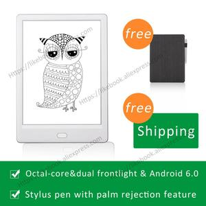 2019 New Arrival Ebook Reader 7.8 inch likebook Muses Android 6. 0 frontlight Octa core 2GB RAM with handwriting feature(China)