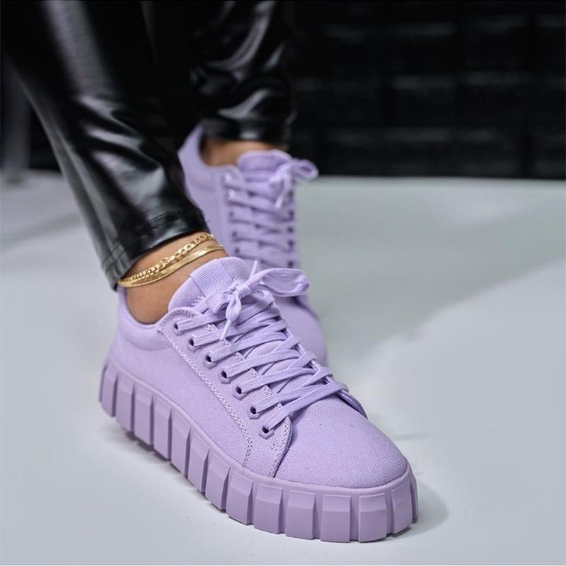 2021 אופנה אביב חדש מעצב מכירה לוהטת לבן נעלי נשי פלטפורמת סניקרס נשים Tenis Feminino מזדמן נקבה נעלי אישה
