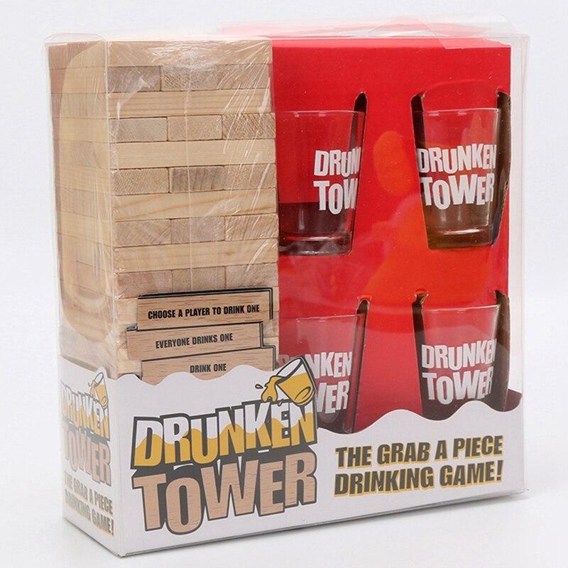 Удовольствие от игры, башня игры Краб кусок питьевой игры головоломки Настольная игра бинго для ночного клуба Вечерние игры