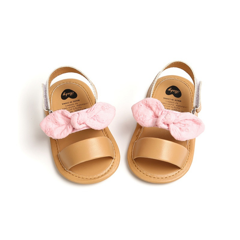 Cute Summer Baby Girls Bow First Walkers Girls Baby Soft Bottom Fringe Shoes Toddler Sandals 2020 New Arrival