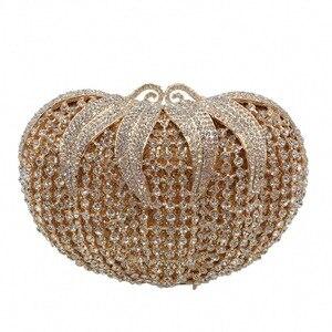 Свадебные вечерние кошельки, элегантные женские вечерние кошельки, Роскошные блестящие бриллианты в форме помидора, Кристальные клатчи, су...