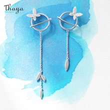 Women Earring Fine-Jewelry Thaya 925-Silver Dangle Gift Party 3d-Circle Exquisite-Accessories