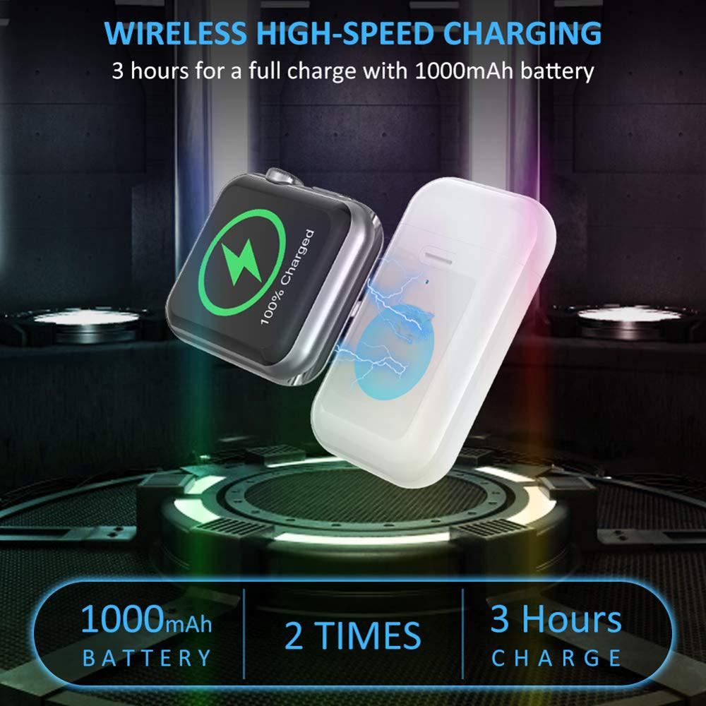 1000mAh Power Bank QI Wireless Charger Portable Mini Wireless Charging Dock External Battery Pack for Apple Watch Series 1 2 3 4 in Mobile Phone Chargers from Cellphones Telecommunications
