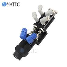 Envío Gratis, aguja de apagado, dispensador de pegamento Ab de doble acción, válvulas dispensadoras de fluidos de Control neumático
