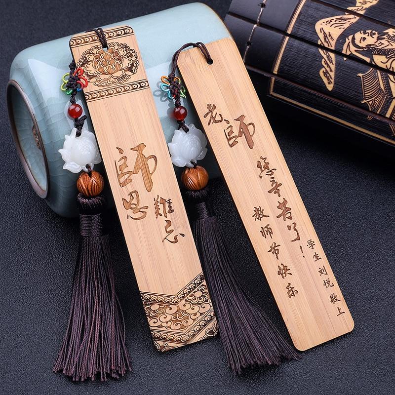 Classical Bamboo Bookmarks, Chinese Style Wooden Regeneration, Creative Mahogany, Ebony Bookmarks