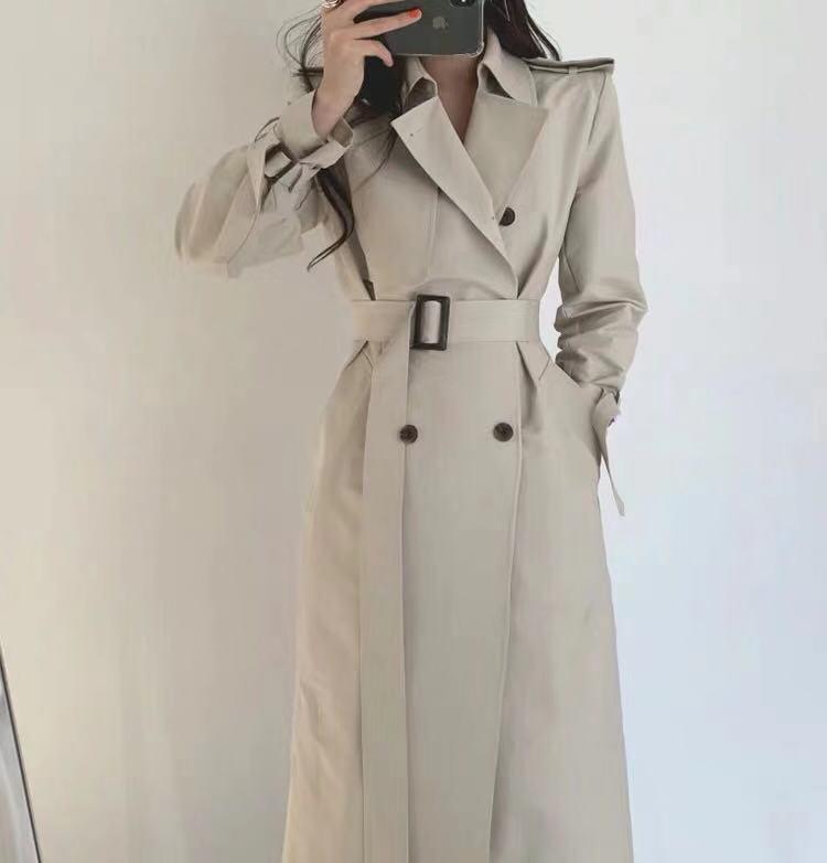 2019 nouveau printemps automne mode décontracté Trench femmes Manteau long Manteaux vêtements amples pour femme avec ceinture