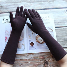Женские Длинные хлопковые перчатки bicckmods Модные цветные