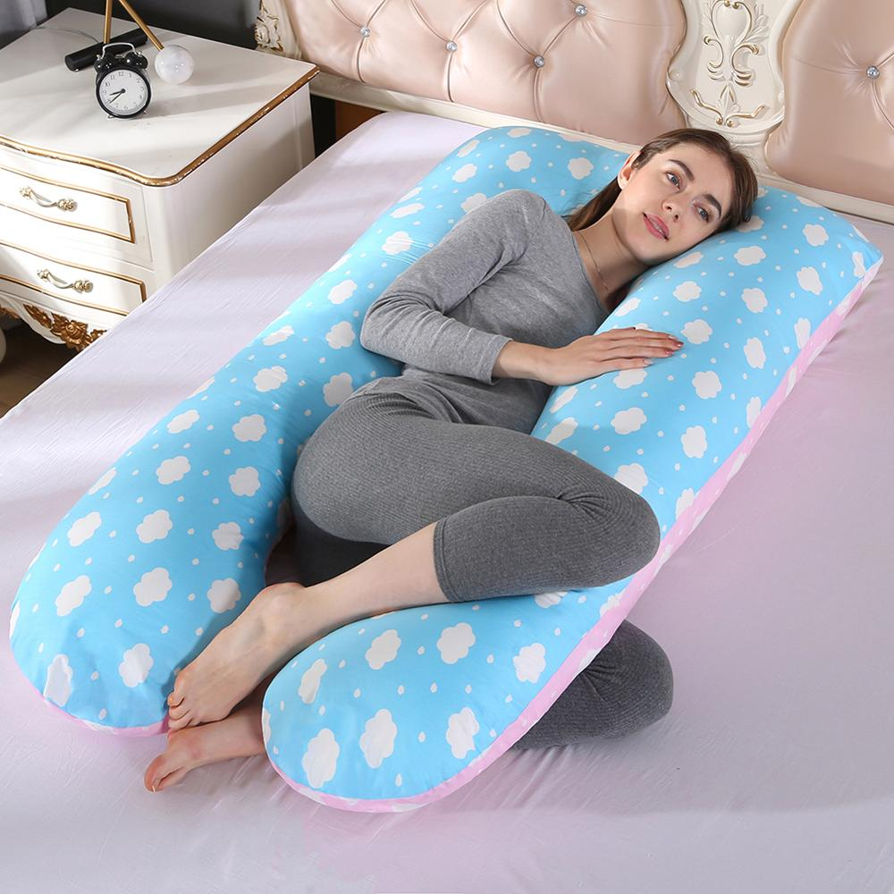Comfortable U Shape Cushion Long Side Sleeping Maternity Pillows Bedding Full Body Pregnancy Prenatal Pillow For Pregnant Women