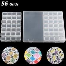 56 Grids Diamond Painting Drill Box Jewelry Box 5D DIY Rhinestone Embroidery Crystal Bead Organizer Storage