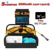 Draagbare 8500Mah Capaciteit Standable 16Gb Tf Card Dvr IP68 Syanspan Industriële Afvoer Rioolbuis Inspectie Video Camera Endoscoop
