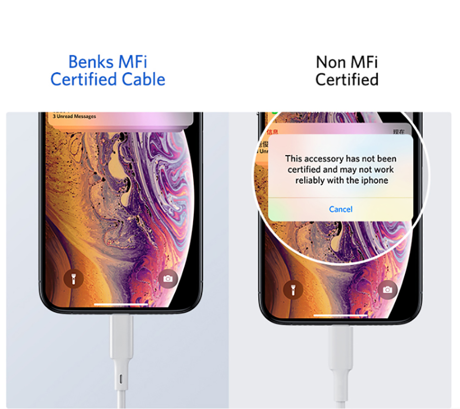 Benks MFi PD Cable Fast Charging For iPhone 11 Pro MAX X XR XS 8 Plus Type C to Lightning Phone Cables For iPad Pro Charger Cord (5)