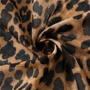 Image 5 - Moda Europa América borla de algodón para bufanda diseño Animal leopardo bufandas primavera otoño invierno largo versátil Pashmina chal