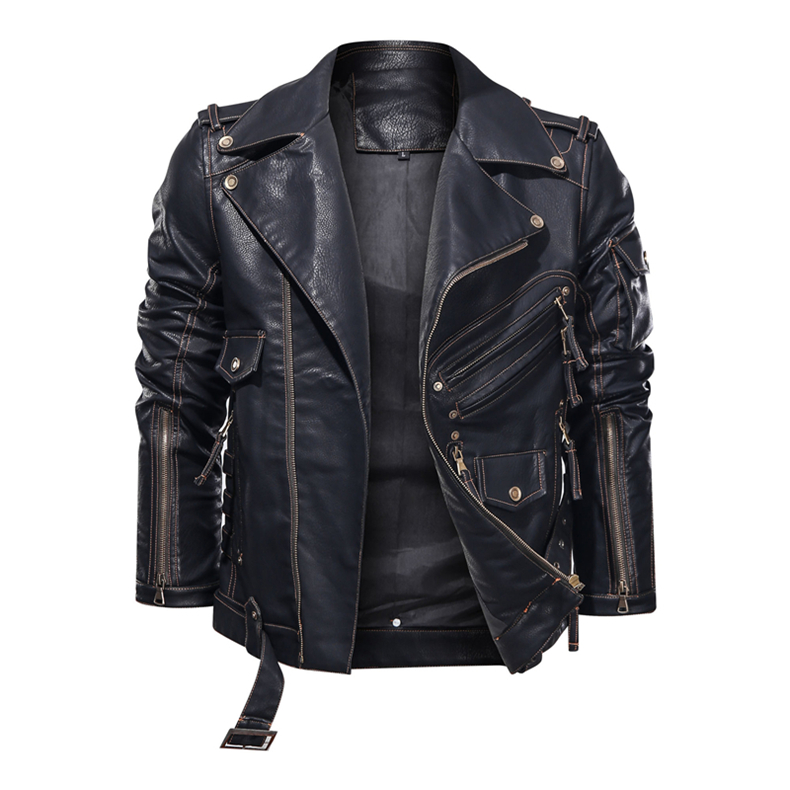 mens pu leather jacket05